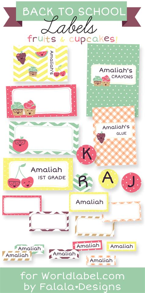 printable name tags for school bags back to school labels by falala designs worldlabel blog