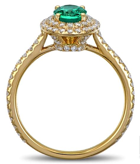 vintage 2 carat emerald and halo engagement