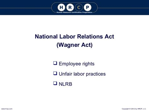 national labor relations act section 8 2012 unit 5 power point 2