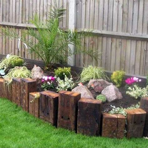 Use The Ends Of Railway Sleepers To Create Another Level Garden Ideas With Sleepers