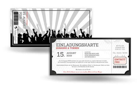 Hochzeitseinladung Festival by Einladung Eintrittskarte Festival Selbst Gestalten