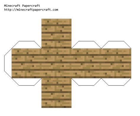 Minecraft Papercraft Wooden Planks - papercraft wooden planks