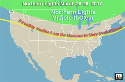 northern lights viewing map where and when to see northern lights tonight in michigan