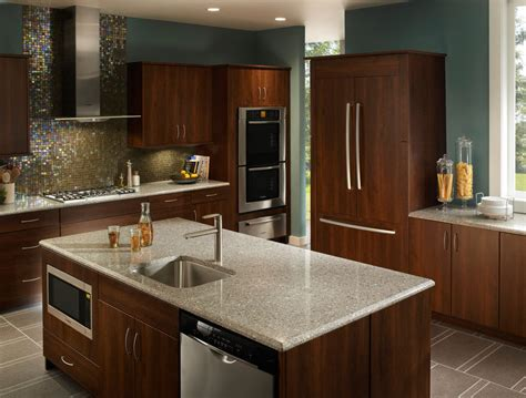 Metallic Kitchen Backsplash by Silestone Quartz Vs Granite Countertops