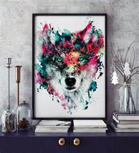wolf home decor wolf wildlife animals wall home decor by rizapekerart