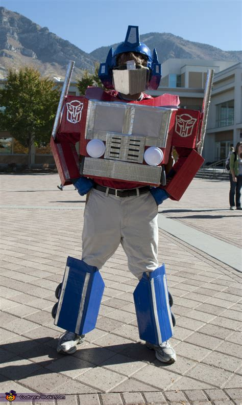 homemade optimus prime costume  men easy diy costumes