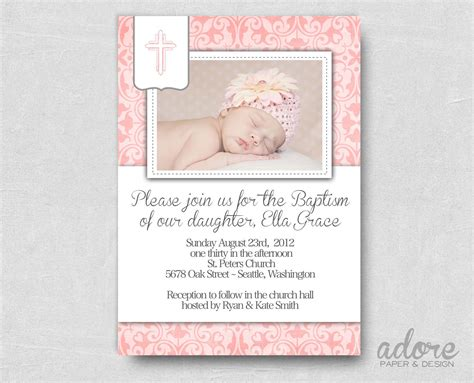 baptismal invitation template free baptism invitation free printable baptism invitations