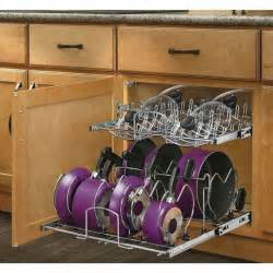 organize your pots and pans with a metal pull out