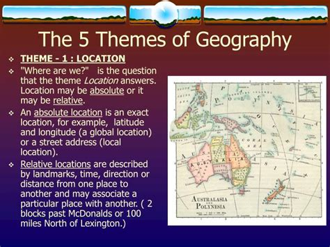 5 themes of geography quiz ppt ppt geography the basics powerpoint presentation id