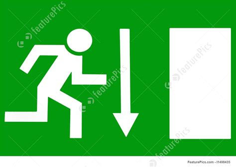 Signboards: Escape Route - Emergency Exit - Stock ... Go Sign Clip Art