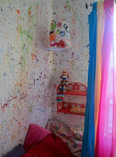 splatter paint bedroom splatter walls in my daughters room painted the walls