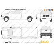 Blueprintscom Vector Drawing Dodge Ram 1500 Quad Cab 160 WB 4x4