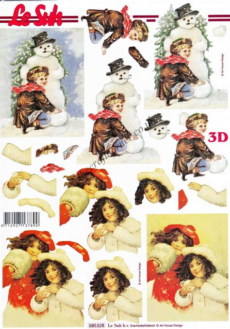 die cut decoupage sheets children die cut 3d decoupage sheet