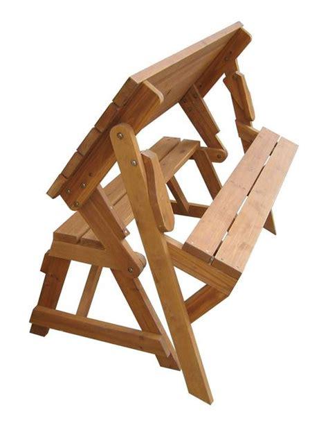 creative ideas diy folding bench  picnic table combo