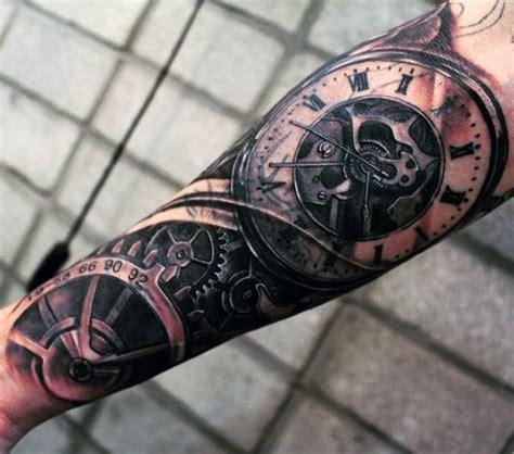 pocket watch tattoos for men 25 best ideas about clock design on