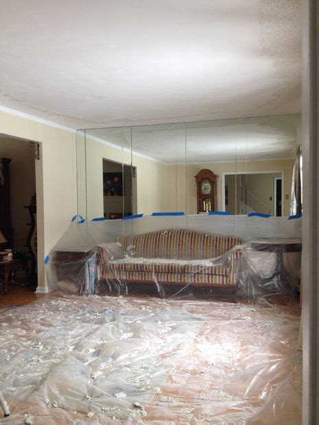 removing popcorn ceilings with pictures