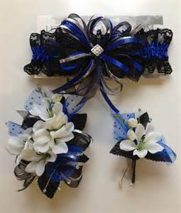 royal blue corsage royal blue prom corsage and matching prom garter letsdancegarters prom homecoming
