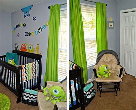 nursery reveal tour disney baby monsters inc theme