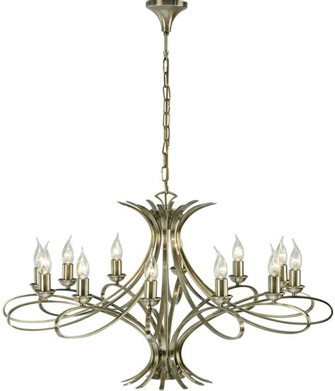 Large Contemporary Chandelier Penn Contemporary 12 Light Large Brushed Brass Chandelier 63568