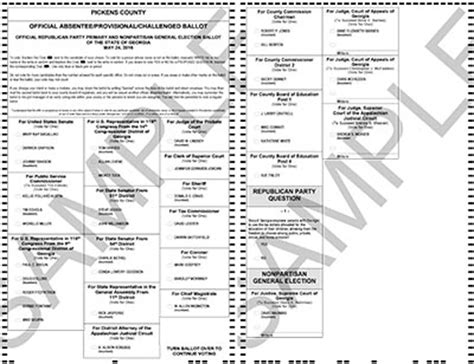 sample nonpartisan, republican and democratic ballots for