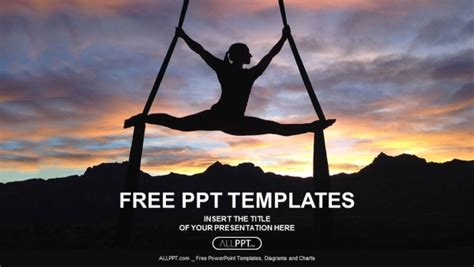 ppt templates free download yoga free sports powerpoint templates design