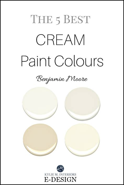 the best cream paint colours by benjamin moore off white