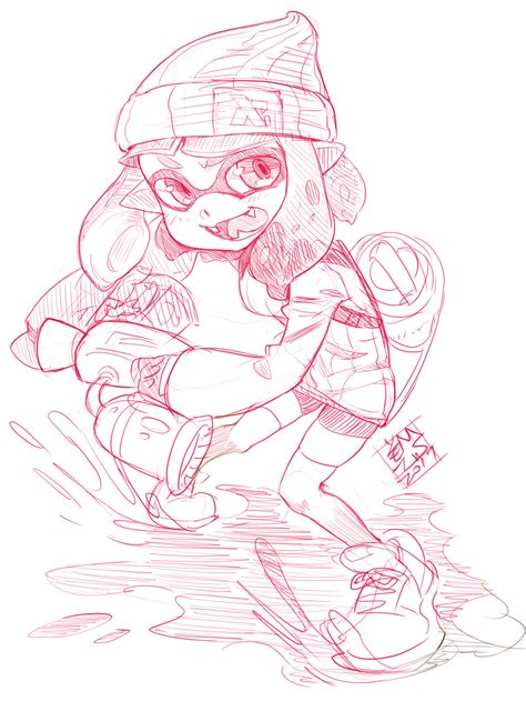 Splatoon 2 Sketches by Splatoon 2 Inkling By Ermaowu On Deviantart