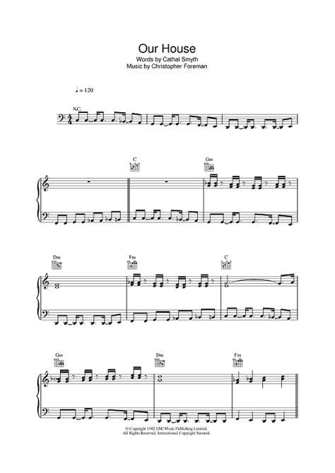 our house piano sheet music our house sheet music music for piano and more onlinesheetmusic com