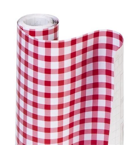 Decorative Adhesive Shelf Liner by Dazz 8607202 Ruby Gingham Adhesive Decorative Shelf Liner Ebay