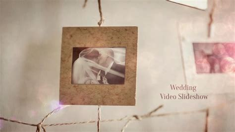 wedding slideshow template portrait craft wedding slideshow after effects template