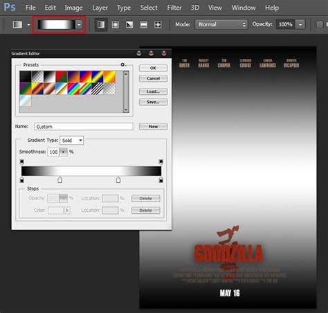 adobe photoshop vignette tutorial create an epic godzilla inspired movie poster in adobe