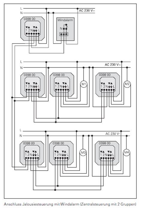 jalousie schaltplan gira faq elektronische jalousiesteuerung komponenten