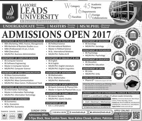 Http Www Wilmu Edu Admission Mba Admission Aspx by Admission Open In Lahore Leads 15 Oct 2017