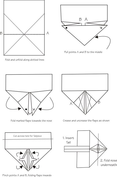 Paper Airplane Folding Template - pdf diy paper airplanes templates woodworking