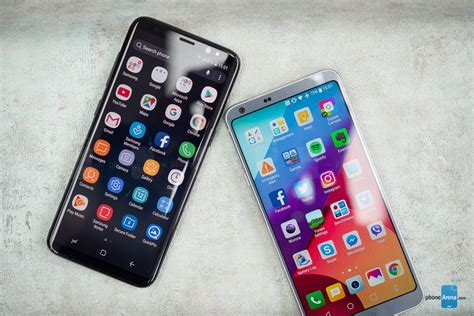 samsung vs lg samsung galaxy s8 vs lg g6 interface functionality and performance