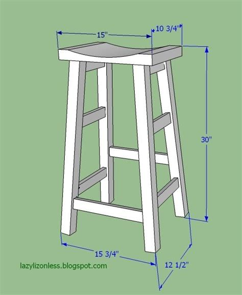 stool woodworking plans bar stool measurements by lazy liz on less workshop