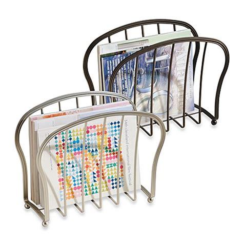 bed bath and beyond astoria buy interdesign 174 astoria magazine rack in oil rubbed