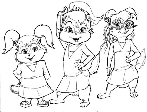 The Chipettes Coloring Pages free printable chipettes coloring pages for