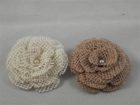 burlap flower template burlap flower fashion accessory set of 2 with by