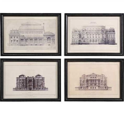 architectural blueprints for sale vintage reproduction architectural drawings set of 4