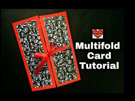carding tutorial video diy multifold card tutorial handmade folding card