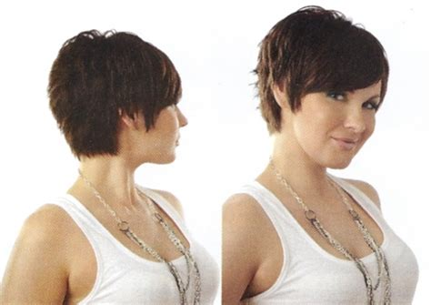 short hair cut pictures front and back short shaggy layered pixie haircut pictures front side and