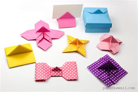 Origami With Stand - origami flower card holder paper kawaii