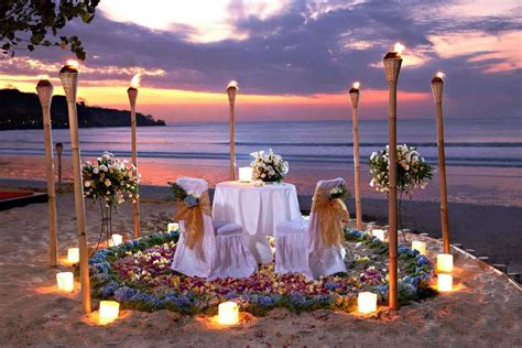 romantic dinners for two intimate torches romantic dinner at jimbaran beach around