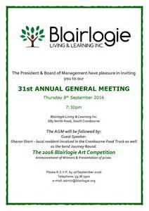 annual general meeting 2016 blairlogie living amp learning