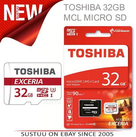 Toshiba Micro Sd 32gb Memory Sd Card Murah toshiba 32gb exceria mcl micro sd memory card 1 year