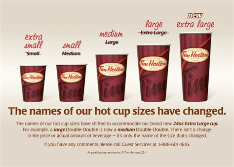 Tim Hortons supersizes its coffee cups   The Star