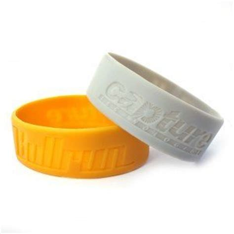 1 inch silicone bracelets custom china 1 inch silicone baller bands wristbands custom