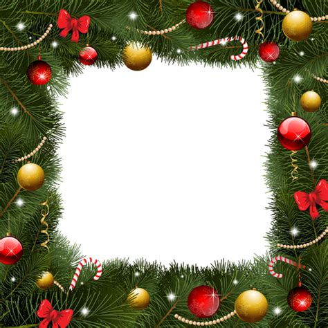 christmas transparent border png frame frames