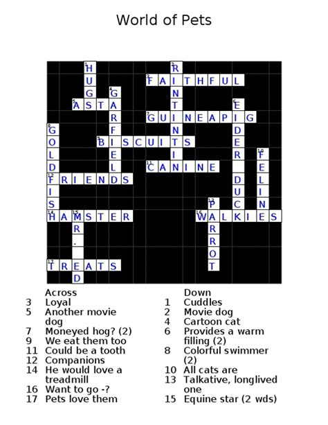 library section crossword cryptic crossword solution world of pets new maine times